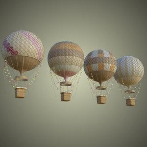 3D model hot air ballon
