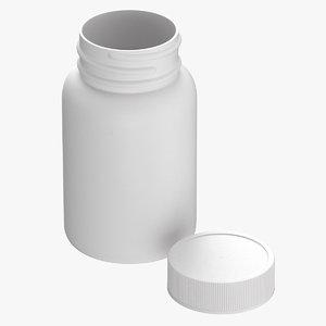 plastic bottle pharma 200ml 3D model