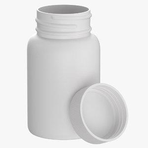 3D plastic bottle pharma 200ml model