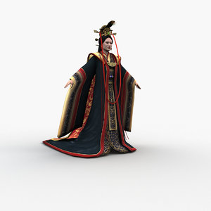 3D chinese empresses 0002 model
