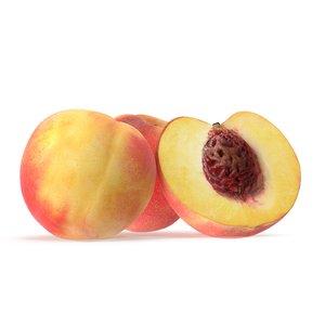 peach fruit food 3D model