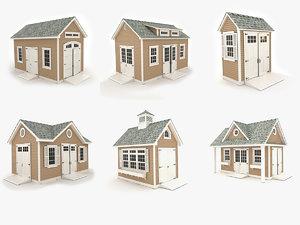 3D model garden sheds vol 1