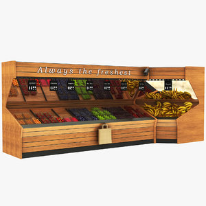 3D model fruit vegatables display stand