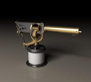 maxim 37 mm automatic 3D model