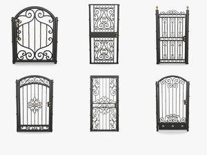 3D wrought iron gates 1
