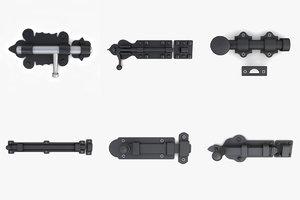 3D slide bolt deadbolt locks model