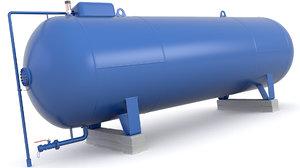 tank pipes model
