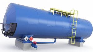 tank pipes 3D model