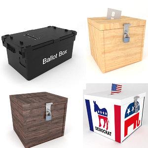 ballot boxes 3D model