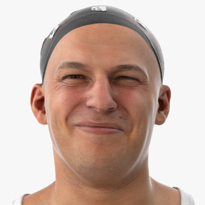 marcus human head nasolabial 3D model