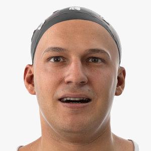 3D marcus human head lip