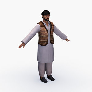 3D middle east man model