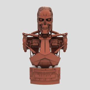 3D terminator genisys t-800 bust model