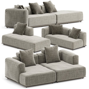 hybrid outdoor sofa set3 3D model
