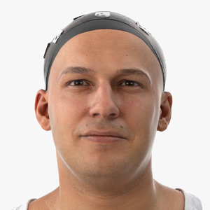 marcus human head sharp 3D model