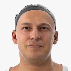 marcus human head sharp 3D model