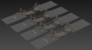 rope bridge 3D
