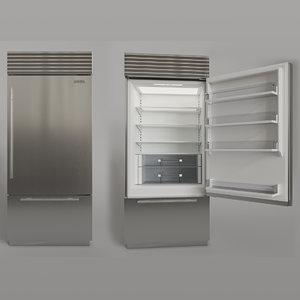 refrigerator freezer subzero 3D model