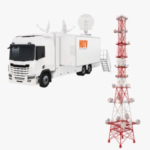 3D product tv tower truck