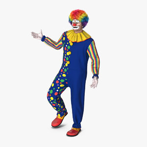 circus clown costume standing 3D model