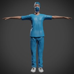 3D surgeon doctor nurse