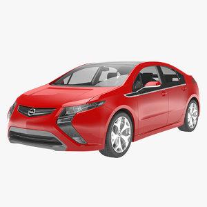 sedan car interior 3D model