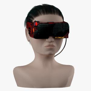 vr cyberpunk 3D model