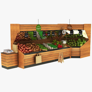 fruit vegatables display stand 3D