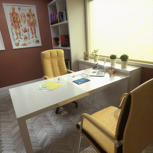 doctor office pbr octane 3D