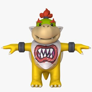 3D bowser jr - super mario