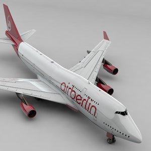 boeing 747 air berlin 3D
