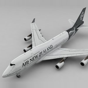 3D boeing 747 air new model
