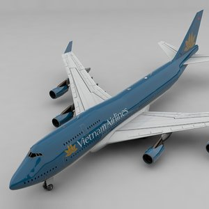 boeing 747 vietnam airlines 3D model