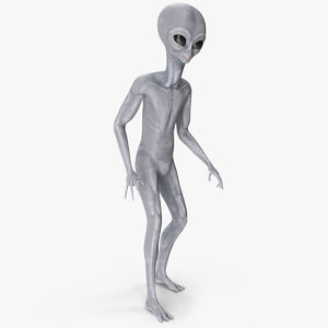 3D alien rigged character model