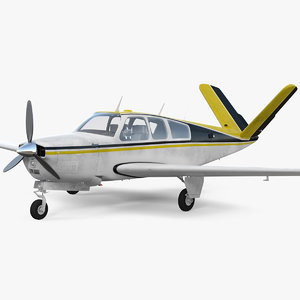 civil utility aircraft single 3D model