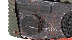 car radio scrap model