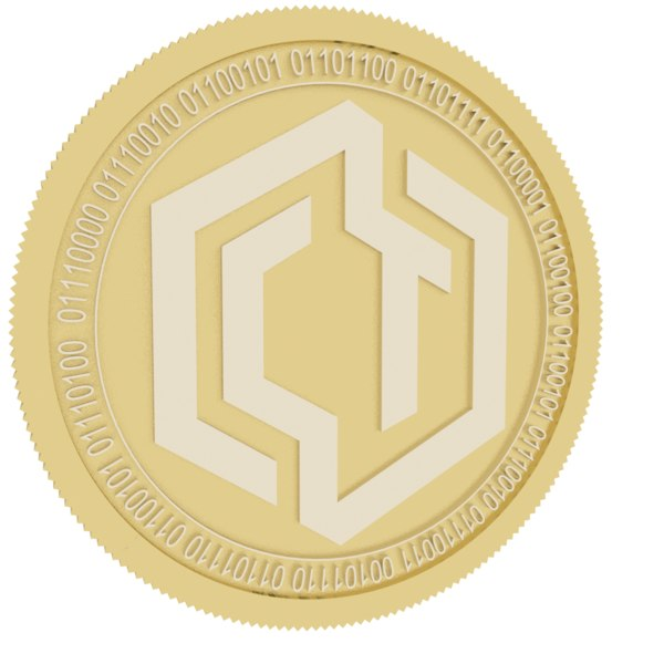 cryptotask gold coin 3D model