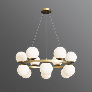 bubbles brass ring pendant light 3D model