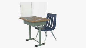 school desk covid model
