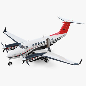 twin turboprop civil utility 3D model
