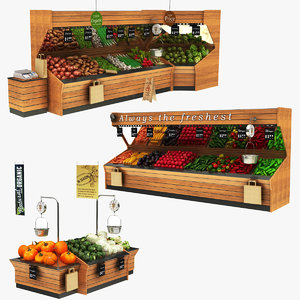 3D vegatables display stand fruits