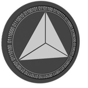 3D model curriculum vitae black coin