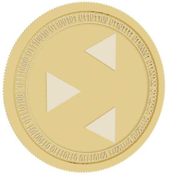 datawallet gold coin 3D
