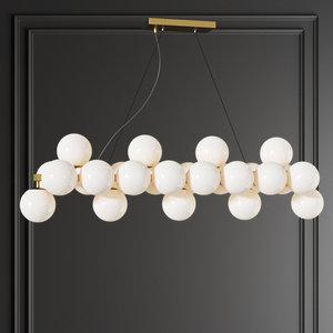 dallas maytoni linear pendant 3D model