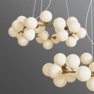 3D model chandelier inflora 25 plafonds