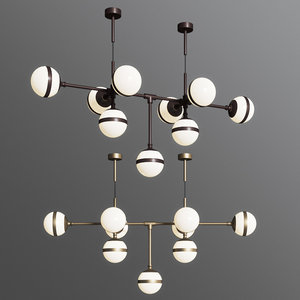 3D peggy 9 light pendant model