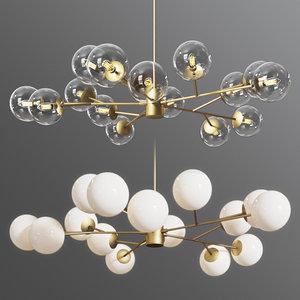 3D orion 15 light pendant
