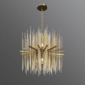 3D elect lampatron designer chandelier model