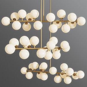 3D suspension light mimosa pendant