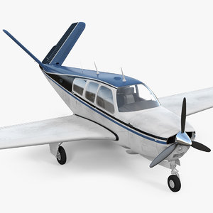 3D civil utility aircraft v model